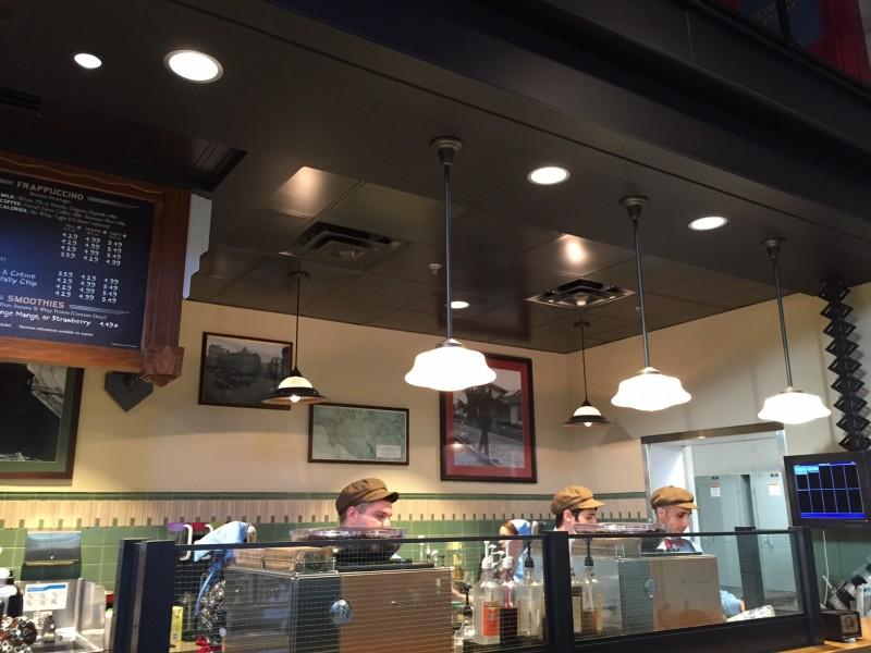 The Trolley Cafe Starbucks Inside