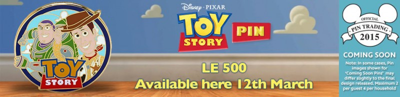 Toy Story Disney Store UK Pin