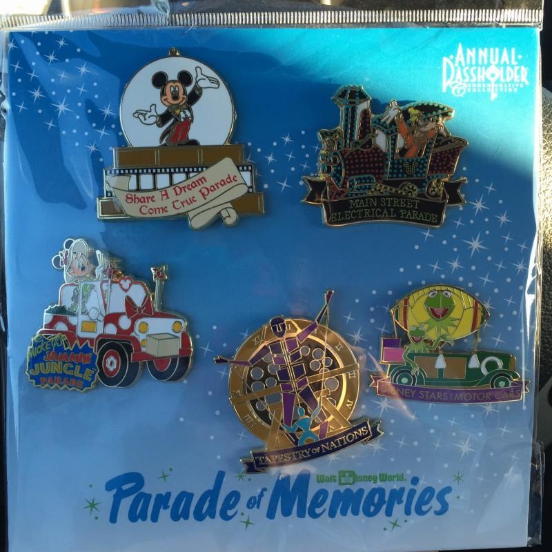 Walt Disney World 2015 Annual Passholder Pin Set