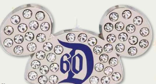 DLR 60th Jeweled Ear Hat Pin