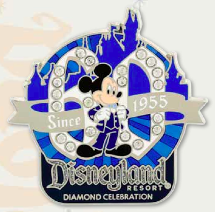 DLR Mickey Mouse 60th Logo Pin