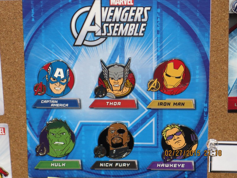 Disney Avengers Pins 2015
