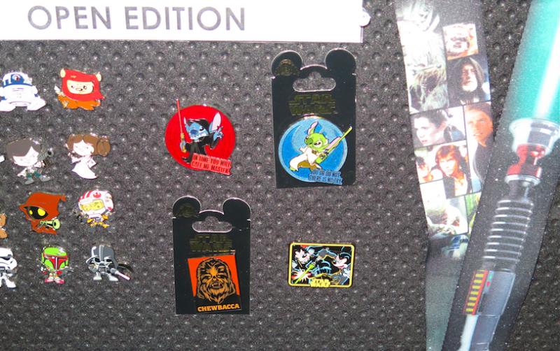 Disney Star Wars Open Edition Pins 2015