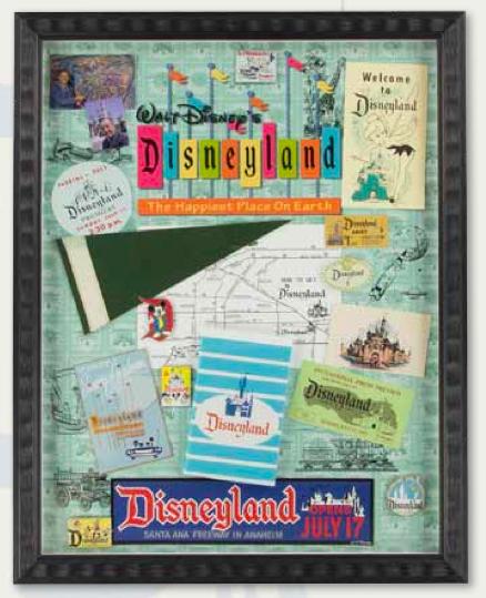 Disneyland 60th Memorabilia Framed Pin Set