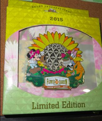 Epcot Flower Garden 2015 Jumbo Pin