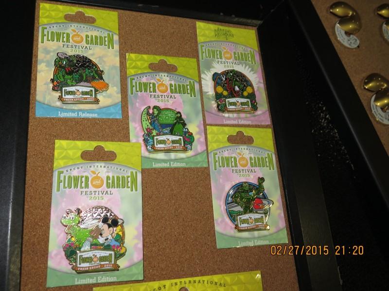 Epcot Flower Garden 2015 Pins