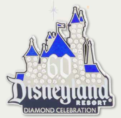 Jeweled Sleeping Beauty Castle Pin