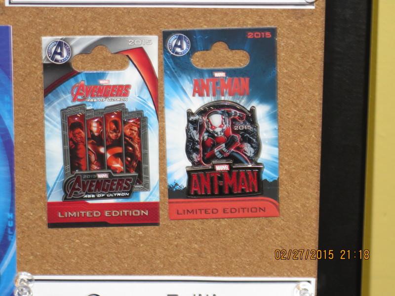Marvel Avengers Pins 2015