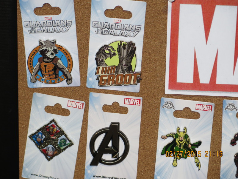 Marvel Guardians of the Galaxy Pins