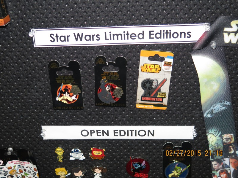 Star Wars Limited Edition Pins 2015
